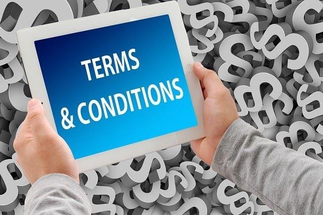 Terms and conditions dexado CPA website